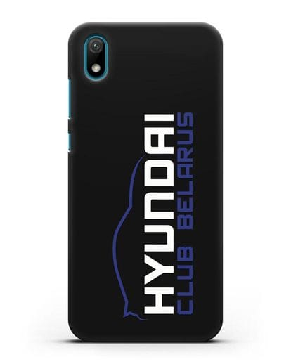 Чехол с надписью Hyundai Club Belarus силикон черный для Huawei Y5 2019