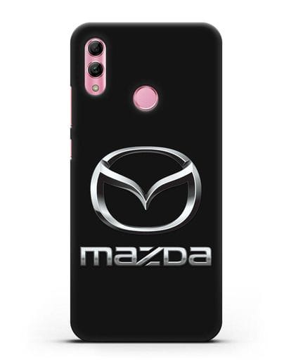 Чехол с логотипом Mazda силикон черный для Honor 10 Lite
