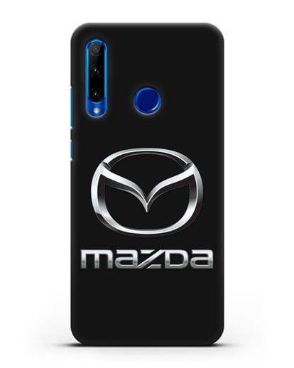 Чехол с логотипом Mazda силикон черный для Honor 10i