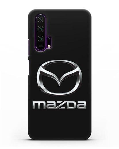 Чехол с логотипом Mazda силикон черный для Honor 20 Pro