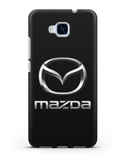 Чехол с логотипом Mazda силикон черный для Honor 5C