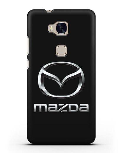 Чехол с логотипом Mazda силикон черный для Honor 5X