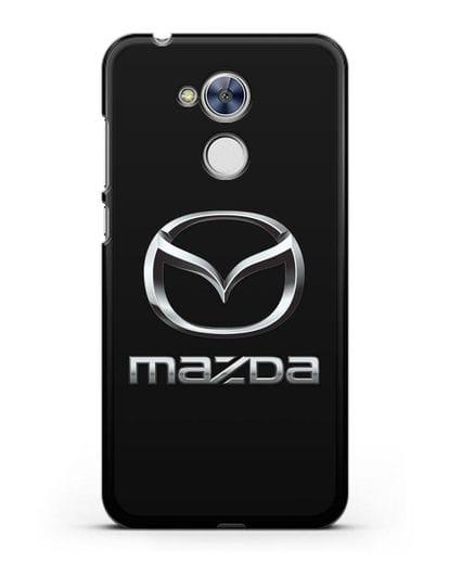Чехол с логотипом Mazda силикон черный для Honor 6A