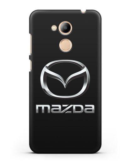Чехол с логотипом Mazda силикон черный для Honor 6C Pro