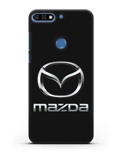 Чехол с логотипом Mazda силикон черный для Honor 7C Pro