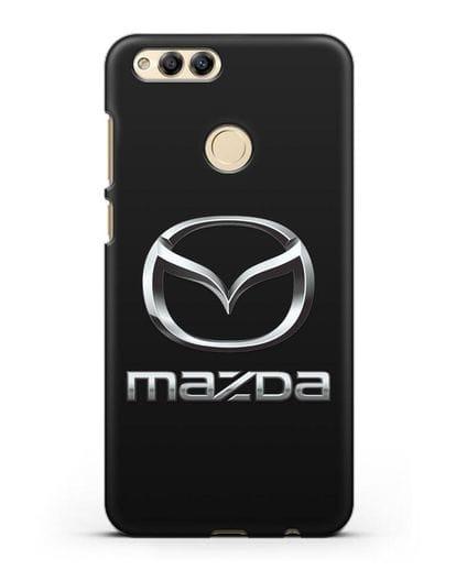 Чехол с логотипом Mazda силикон черный для Honor 7X