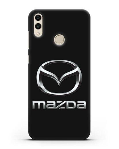 Чехол с логотипом Mazda силикон черный для Honor 8C