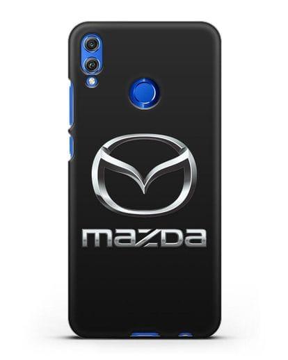 Чехол с логотипом Mazda силикон черный для Honor 8X