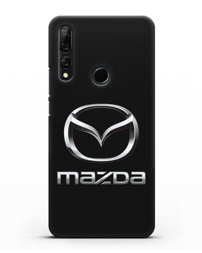 Чехол с логотипом Mazda силикон черный для Honor 9X