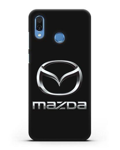 Чехол с логотипом Mazda силикон черный для Honor Play