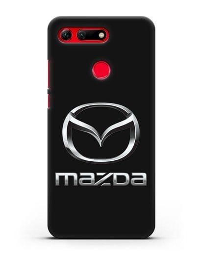 Чехол с логотипом Mazda силикон черный для Honor View 20