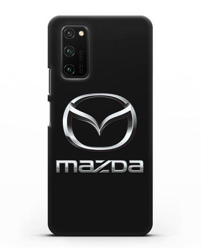 Чехол с логотипом Mazda силикон черный для Honor View 30 Pro