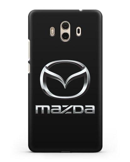 Чехол с логотипом Mazda силикон черный для Huawei Mate 10