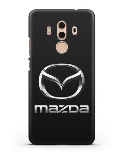 Чехол с логотипом Mazda силикон черный для Huawei Mate 10 Pro