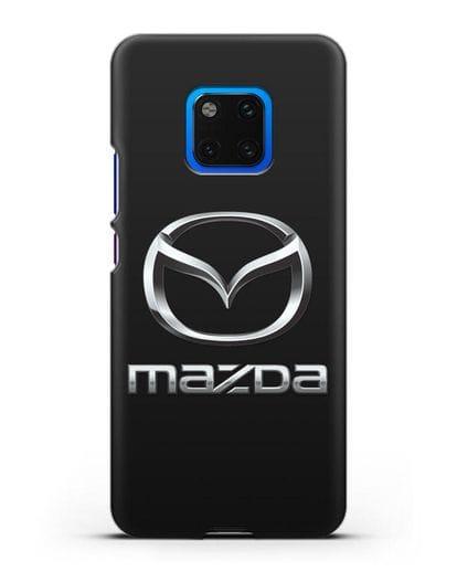 Чехол с логотипом Mazda силикон черный для Huawei Mate 20 Pro