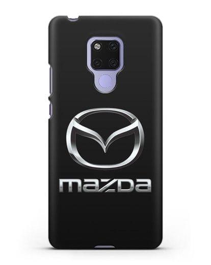 Чехол с логотипом Mazda силикон черный для Huawei Mate 20X