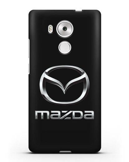 Чехол с логотипом Mazda силикон черный для Huawei Mate 8