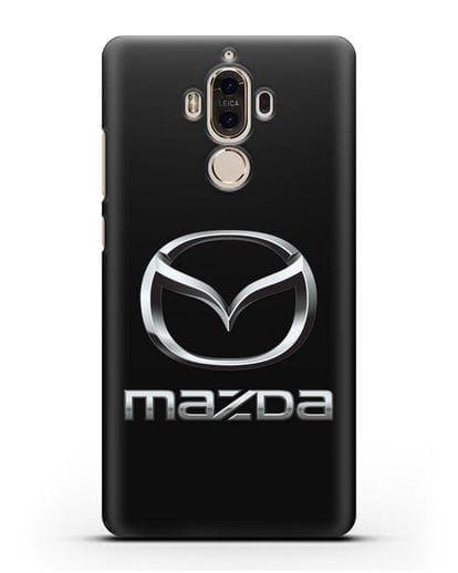 Чехол с логотипом Mazda силикон черный для Huawei Mate 9