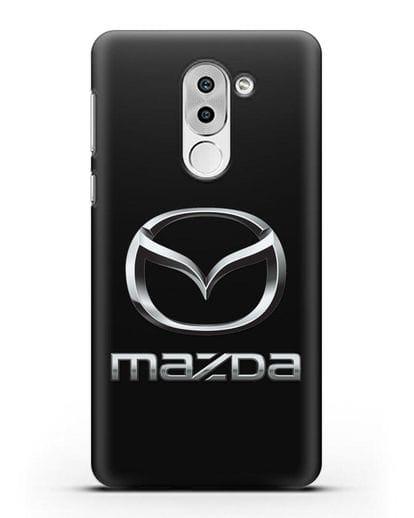 Чехол с логотипом Mazda силикон черный для Huawei Mate 9 Lite