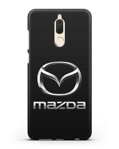 Чехол с логотипом Mazda силикон черный для Huawei Nova 2