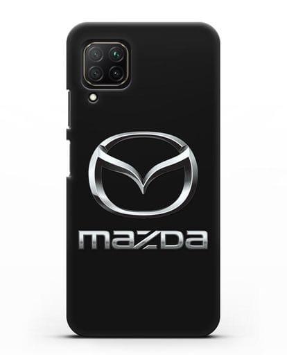 Чехол с логотипом Mazda силикон черный для Huawei Nova 7i