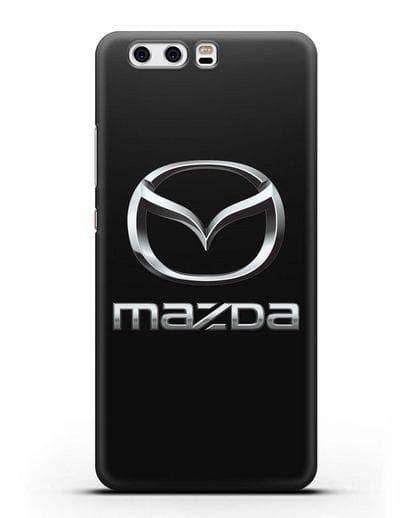 Чехол с логотипом Mazda силикон черный для Huawei P10