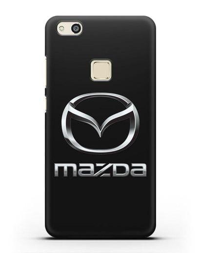 Чехол с логотипом Mazda силикон черный для Huawei P10 Lite