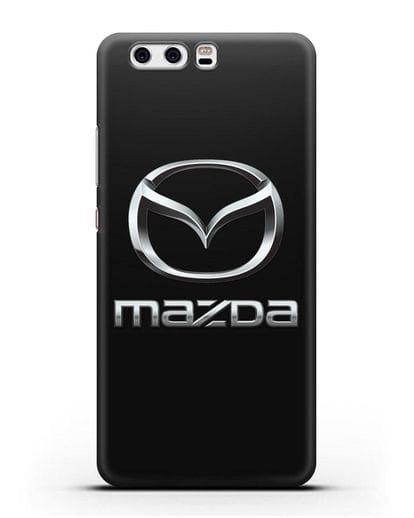 Чехол с логотипом Mazda силикон черный для Huawei P10 Plus