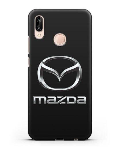 Чехол с логотипом Mazda силикон черный для Huawei P20 Lite