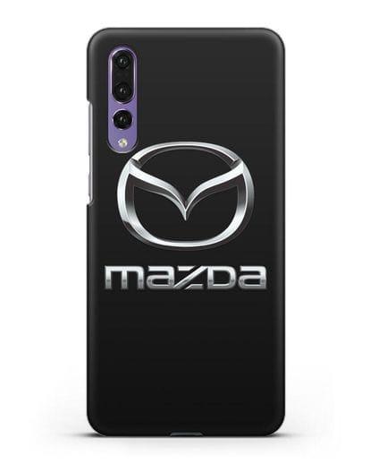 Чехол с логотипом Mazda силикон черный для Huawei P20 Pro