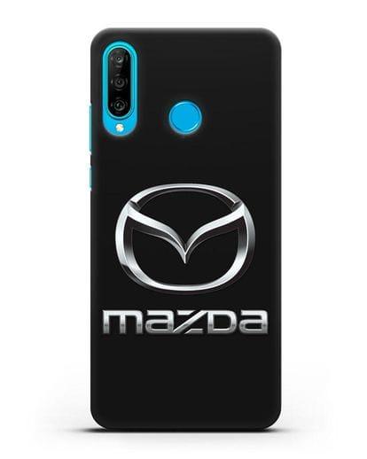 Чехол с логотипом Mazda силикон черный для Huawei P30 Lite