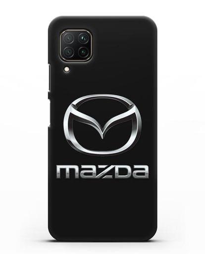 Чехол с логотипом Mazda силикон черный для Huawei P40 lite