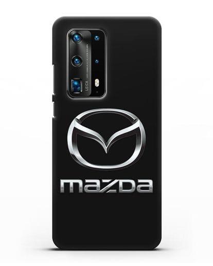 Чехол с логотипом Mazda силикон черный для Huawei P40 Pro