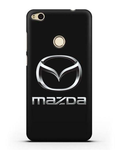 Чехол с логотипом Mazda силикон черный для Huawei P8 Lite 2017