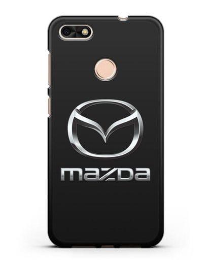 Чехол с логотипом Mazda силикон черный для Huawei P9 Lite mini