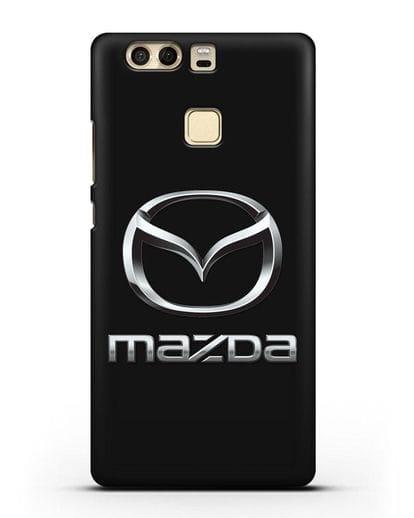 Чехол с логотипом Mazda силикон черный для Huawei P9 Plus