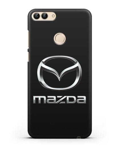 Чехол с логотипом Mazda силикон черный для Huawei P Smart