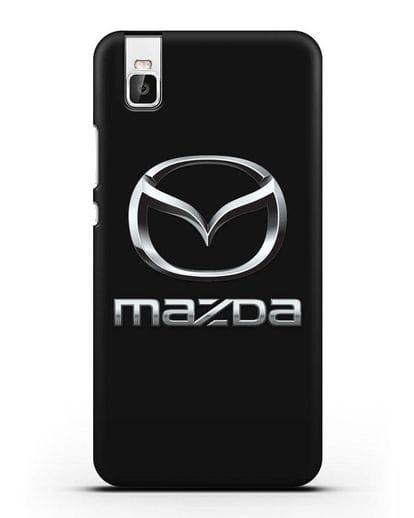 Чехол с логотипом Mazda силикон черный для Huawei Shot X