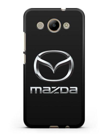 Чехол с логотипом Mazda силикон черный для Huawei Y3 2017