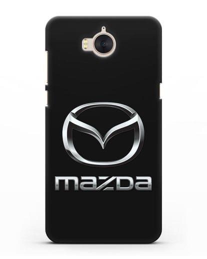 Чехол с логотипом Mazda силикон черный для Huawei Y5 2017