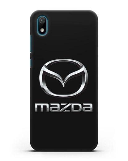 Чехол с логотипом Mazda силикон черный для Huawei Y5 2019