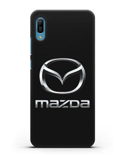 Чехол с логотипом Mazda силикон черный для Huawei Y6 2019