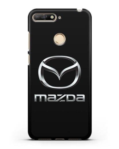 Чехол с логотипом Mazda силикон черный для Huawei Y6 Prime 2018