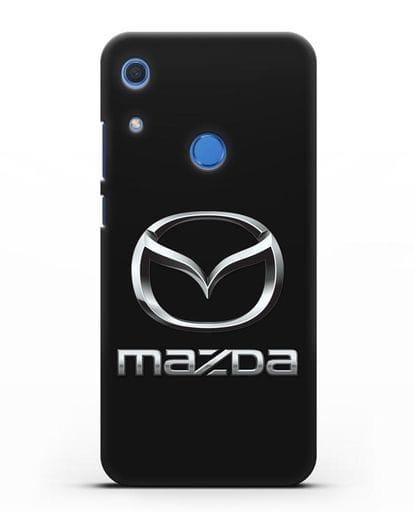 Чехол с логотипом Mazda силикон черный для Huawei Y6s