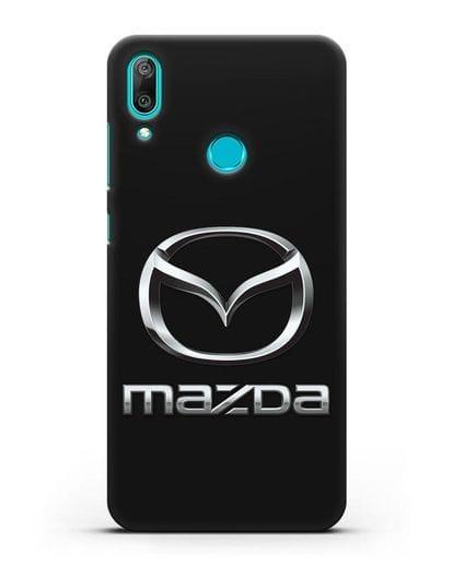 Чехол с логотипом Mazda силикон черный для Huawei Y7 2019