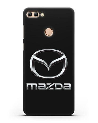 Чехол с логотипом Mazda силикон черный для Huawei Y9 2018