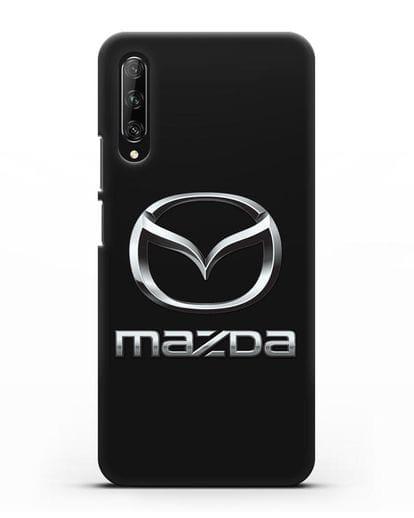 Чехол с логотипом Mazda силикон черный для Huawei Y9s