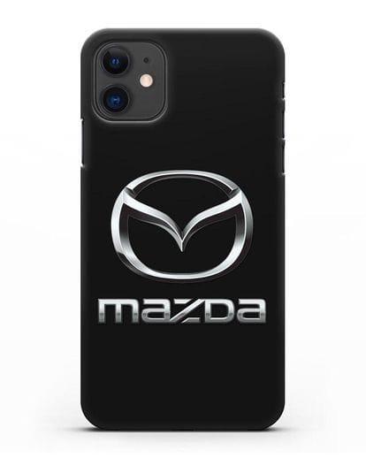 Чехол с логотипом Mazda силикон черный для iPhone 11
