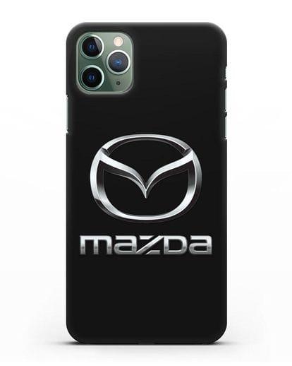 Чехол с логотипом Mazda силикон черный для iPhone 11 Pro Max