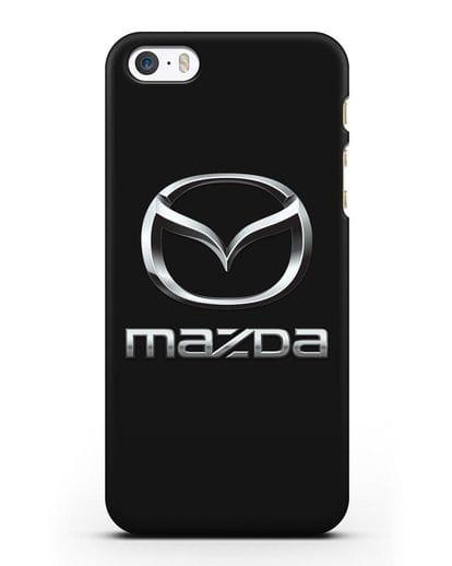 Чехол с логотипом Mazda силикон черный для iPhone 5/5s/SE